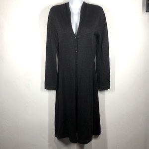 Wet Seal black sparkle hooded long cardigan small